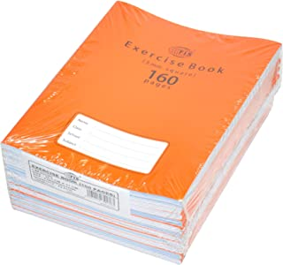 FIS Exercise Books 5 mm Square with Left Margin, 160 Pages, Pack of 12 Pieces, 16.5 x 21 cm Size - FSEBSQ05160N
