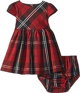Tartan Plaid Dress & Bloomers (Infant)