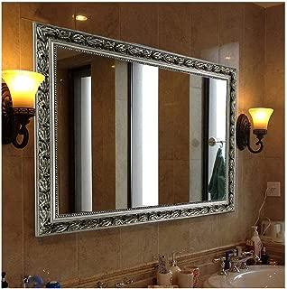 Hans&Alice Bathroom Mirrors for Wall (Silver, 32