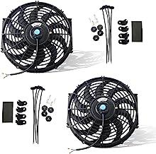 Best MOSTPLUS Black Universal Electric Radiator Slim Fan Push/Pull 12V + Mounting Kit (12 Inch) Set of 2 Review
