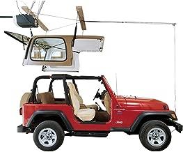 HARKEN Jeep Hardtop Garage Storage Ceiling Hoist | 4 Point Jeep System |6:1 Mechanical Advantage | Lift, Single-Person, Hanger, Pulley, Wrangler, Rubicon