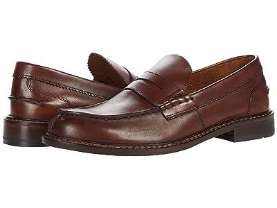 Clarks Oliver Penny (Dark Tan Leather) Men