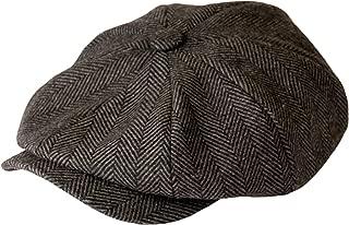 Gamble and Gunn 'Shelby' Newsboy Grey Herringbone Cap