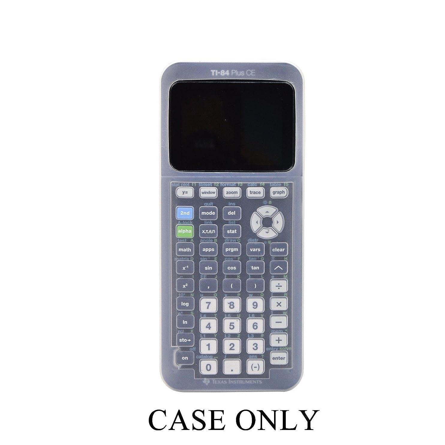 打たれたトラック創造魅了するシリコンケースfor ti-84?Plus CE Texas Instruments Graphing Calculator、ソフト保護Ti 84?Plus CEケース。。。