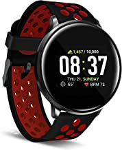 iTouch Sport Round Smartwatch with Waterproof Technology, Heart Rate Monitor, Multi-Sports Mode, Pedometer, for Android an...