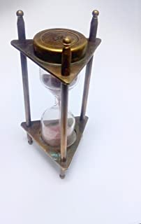 KHUMYAYAD Solid Brass Sand Timer Nautical Antique Vintage Item Replica Hour Glass Maritime Item