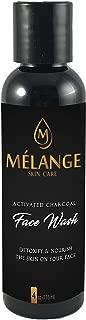 Melange Skin Care Activated Charcoal Face Wash, Cleanser 4 oz