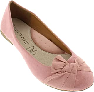 Inez Faux Suede Pointy Toe Flats for Women,Comfort Arch Support Shoes,Dress Flat