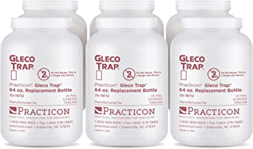 Practicon 7078712 Gleco Trap Replacement Bottles, 64 oz. (Pack of 6)