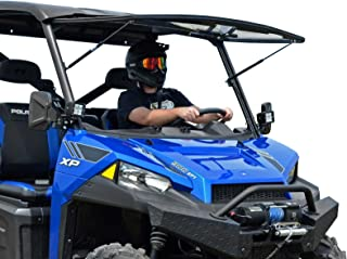 SuperATV Scratch Resistant Flip Windshield for Polaris Ranger Full Size XP 570/570 Crew PRO-FIT Cab (2015-2016) - 3 Different Settings!