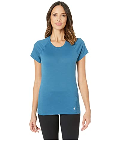 Smartwool Merino 150 Baselayer Short Sleeve (Light Marlin Blue) Women