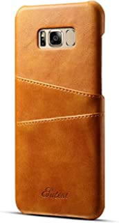 Samsung Galaxy S8 and S8 Plus Wallet Phone Leather Slim Case with Card Holder (Khaki - S8)