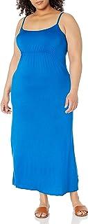 Star Vixen Women's Plus-Size Spaghetti Strap Empire Maxi