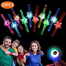Birthday Party Favors for Kids Light Up Toys Prizes 20 Pack Glow In The Dark Party Supplies Bulk Hand Spin Stress Relief Anxiety Toys for Classroom Birthday Celebration