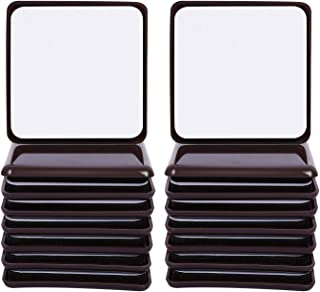 Ezprotekt Square Brown 16 Value Pack Self-Stick Furniture Sliders 2-1/2 Furniture Moving Pads Heavy Duty Adhesive Furniture Movers for Carpet