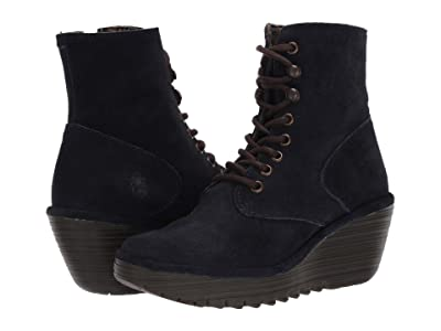 FLY LONDON YGOT588FLY (Navy Oil Suede) Women