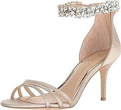 Jewel Badgley Mischka Women's ZAMORA Sandal, gold glitter, 7.5 M US