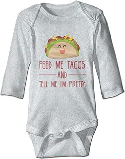 DJNGN Füttere Mich Tacos Cute Infant Kleinkind Strampler Baby Bodysuit Langarm Unisex