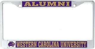 Western Carolina University Alumni Metal License Plate Frame for Front Back of Car Officially Licensed WCU Catamounts (Alumni)