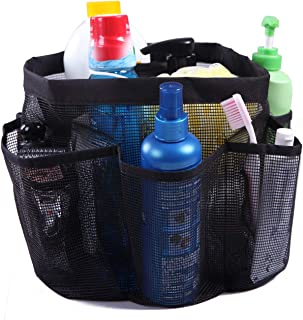 Mesh Shower Caddy Tote Bag, Quick Dry Shower Basket Storage Organizer with 8 Compartments and 2 Oxford Handles, Large Bathroom & Toiletry Bath Mesh Bag for College Dorm, Gym, Swimming,Travelling
