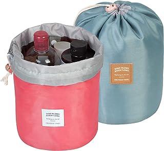2 Pack Makeup Bags For Women Waterproof Cosmetic Bags Multifunctional Bucket Toiletry Bag Travel Organizer Bag Toiletries ...