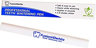 Teeth Whitening Gel Pen Brush by FusionHDwhite - Quick and Easy For Home or Travel - Bright White Radiant Smile in Minutes - 35% Carbamide Peroxide - Mint Flavor That Freshens Breath