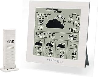 Technoline WD 9245 satellitengestützte Wetterstation mit Innen/Außentemperaturanzeige, zuverlässiger Wettervorhersage für ...
