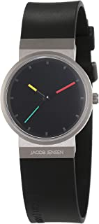 Jacob Jensen Womens Analogue Quartz Watch with Rubber Strap Item NO.: 650
