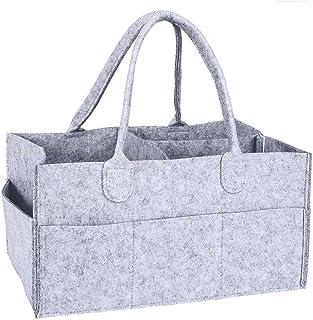 N\C Baby blöja Caddy filtväska arrangör grå med avtagbar avdelare multifunktionell bärbar skötväska organisatör baby blöjv...