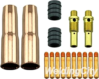 WeldingCity Accessory Kit 0.035 Contact Tip-Nozzle-Diffuser-Liner for Lincon Magnum 200 and Tweco #2 MIG Guns MK7