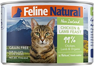 Canned Cat Food by Feline Natural - Perfect Grain Free, Healthy, Hypoallergenic Limited Ingredients - BPA-Free Wet Cat Food - Nutrition for All Cat Types