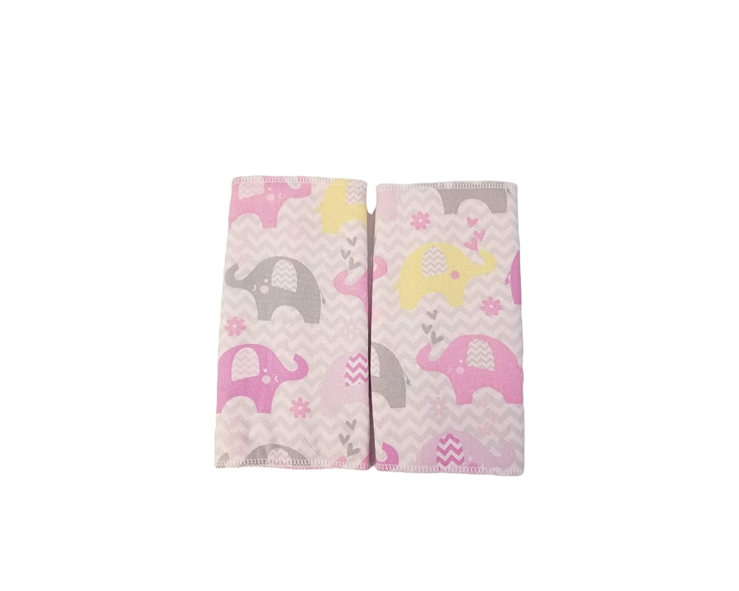 Pink and Grey Elephant Chevron Drool Suck Pads fits Carriers Such as tula,lilliebaby,Ergo