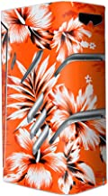 Skin Decal Vinyl Wrap for Smok T-Priv 220W TC Vape stickers skins cover / Orange Tropical Hibiscus Flowers