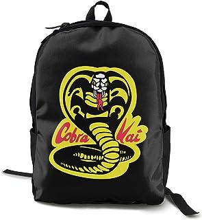 Cobra Kai Pack Mochila Clásica Mochila Escolar Negro Bolsa de Trabajo para Poliéster Unisex Escuela