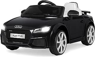 Best Choice Products Kids 6V Licensed Audi TT RS Ride On w/ 2 Speeds, Suspension, AUX Input, Black