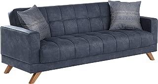 BELLONA Fashion & Function Furniture Montana Collection (Sofa Bed w/Storage) YAKUT NAVY