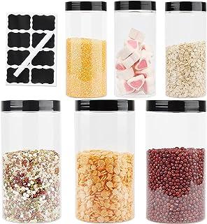 Pot Plastique Transparent, Bocaux Plastique Alimentaire, Bocal Plastique Avec Couvercle, Bocal Plastique Transparent, 3PCS...