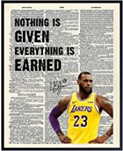 LeBron James Quote Dictionary Art - 8x10 Inspirational Photo, Motivational Poster - Unique Home Decor for Office, Classroo...