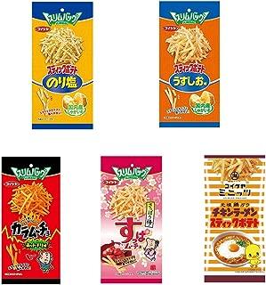 Slim Bag Stick Potato Snacks Chicken Ramen taste Assortment 1.4oz 5Types Japanese Stick Potato Snacks koikeya Ninjapo