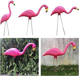 3X Pink Flamingo Home Decor Yard Garden Lawn Figurine Bonsai Ornament Craft