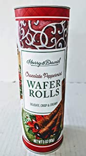 Harry & David Chocolate Peppermint Wafer Rolls 3oz Can