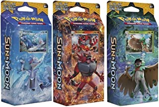 Pokemon All 3 Sun & Moon English Theme Decks: Rowlet, Litten, & Popplio! Toy