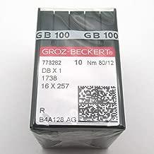 ckpsms GROZ-BECKERT Needle - 100PCS Groz Beckert DBX1 1738 16X257 Sewing Machine Needles (Groz Beckert DBX1 10/70)