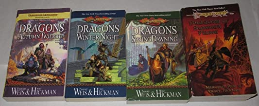 DragonLance Chronicles, four-volume set: Dragons of Autumn Twilight + Dragons of Winter Night + Dragons of Spring Dawning + Dragons of Summer Flame