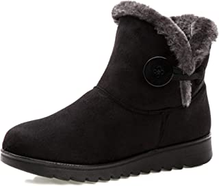Stunner Winter Warm Women's Snow Boots Button Cotton Shoes