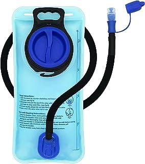 FIBOUND Bolsa de Hidratación 2L, Bolsa de Agua Portátil,Libre de BPA, con una Boca Ancha,Tapa a Prueba de Fugas, y Tubo de...