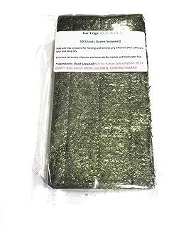 Far Edge Aquatics Green Seaweed for Fish- 50 Sheets (2.50 oz) for Marine & Freshwater Animals