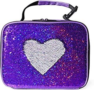 Glitter Reversible Sequin Lunch Box Girls Kids Insulated Thermal Lunch Tote Bag
