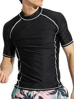 Actleis Men's Short Sleeve Rash Guard, UPF50+ UV Sun...