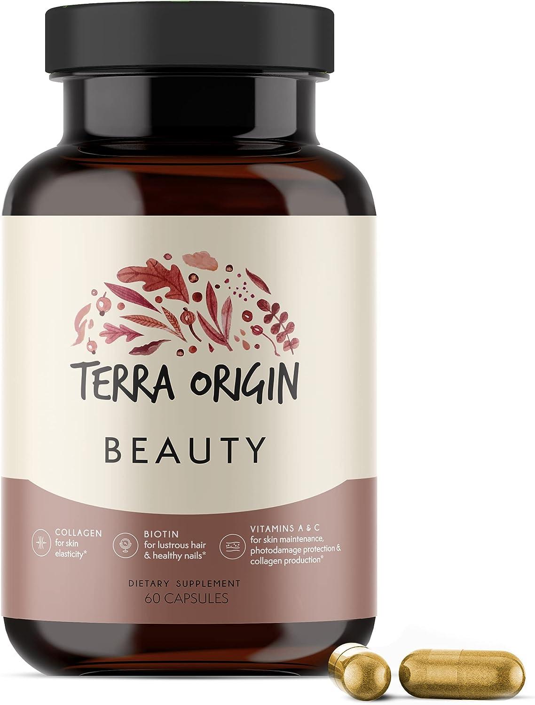Terra Origin Beauty wholesale Hair Skin and C with Biotin Capsules Nails New popularity